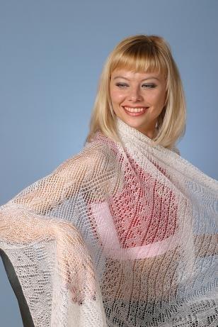 Схема вязания оренбургского платка.