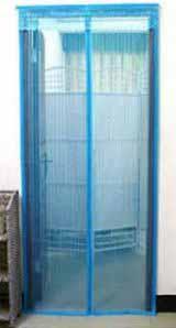 Москитная штора сетка на магнитах - голубая