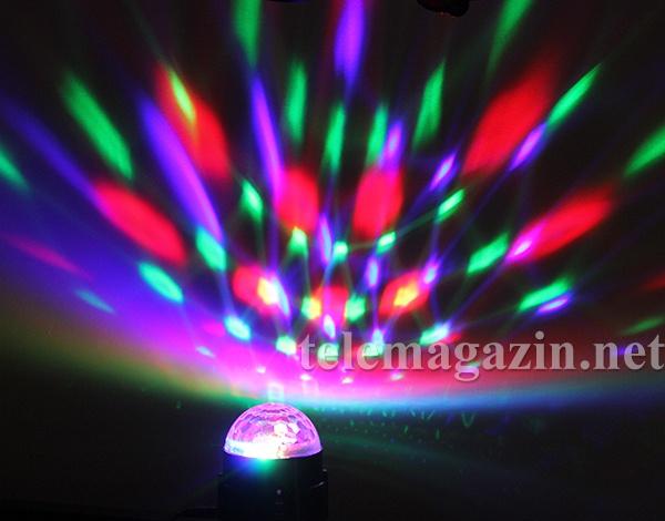 Светодиодный цветомузыкальный диско-шар