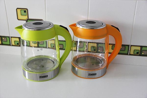 Чайник электрический стеклянный с подсветкой Zimber