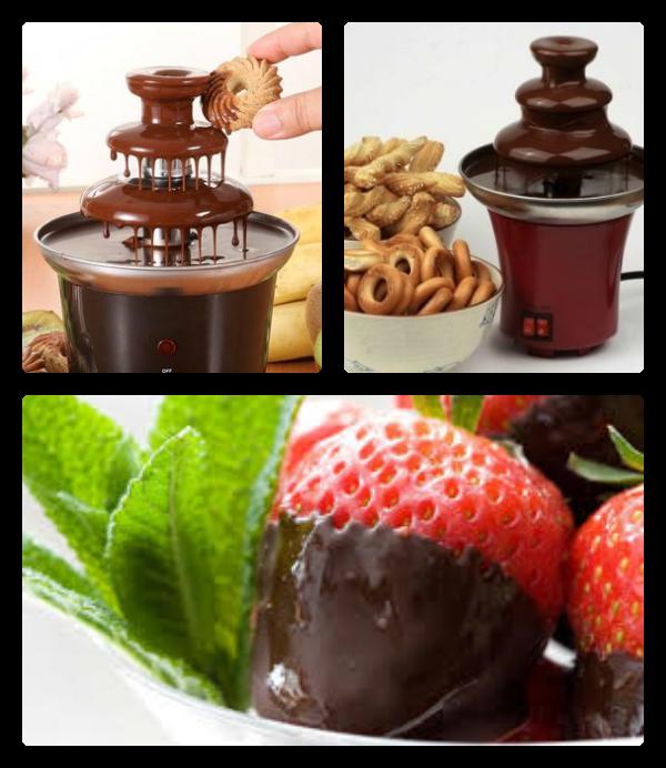 Шоколадный фонтан-фондю мини