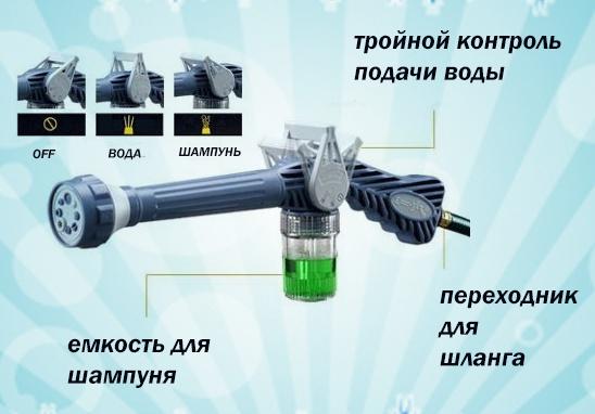 Насадка на шланг для мытья машины Водяная пуля