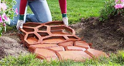 форма для создания садовой дорожки